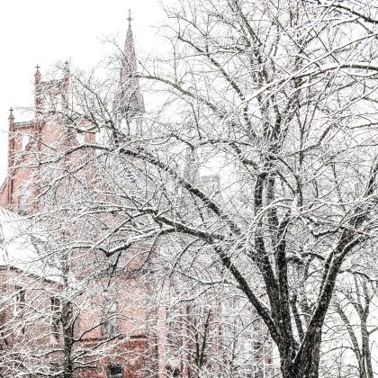 Rathaus Neumünster im Winter